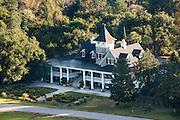 Aerial view of Magnolia plantation Charleston, South Carolina.