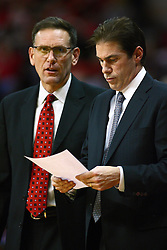 29 December 2011:  Rob Judson and Tim Jankovich during an NCAA mens basketball game between the Northern Illinois Panthers and the Illinois State Redbirds in Redbird Arena, Normal IL