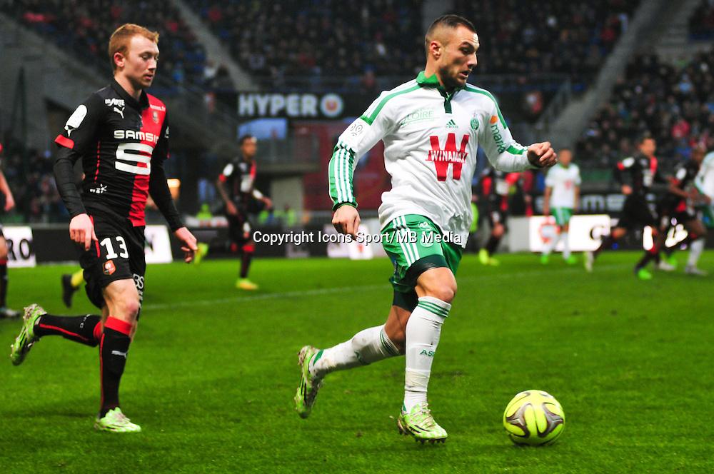 Yohan Mollo - 18.01.2015 - Rennes / Saint Etienne - 21eme journ&Atilde;&copy;e de Ligue 1 -<br />Photo : Philippe Le Brech / Icon Sport