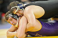 December 8, 2011: Iowa Hawkeyes Bobby Telford controls Northern Iowa Panthers Blayne Beale in the heavyweight pound bout of the NCAA wrestling dual between the Northern Iowa Panthers and the Iowa Hawkeyes at Carver-Hawkeye Arena in Iowa CIty, Iowa on Thursday, December 8, 2011. Telford defeated Beale 12-0 and Iowa defeated Northern Iowa 38-4.