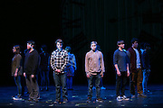 "Students at School of the Arts in Rochester perform in ""Percentage,"" a play about bullying, on Tuesday, February 2, 2016."