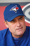 ANAHEIM, CA - MAY 06:  Manager John Farrell #52 of the Toronto Blue Jays talks to the media before the game against the Los Angeles Angels of Anaheim on Sunday, May 6, 2012 at Angel Stadium in Anaheim, California. The Angels won the game 4-3. (Photo by Paul Spinelli/MLB Photos via Getty Images) *** Local Caption *** John Farrell
