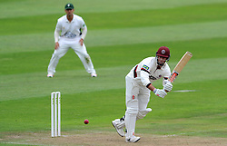 Somerset's Marcus Trescothick flicks the ball - Photo mandatory by-line: Harry Trump/JMP - Mobile: 07966 386802 - 21/08/15 - SPORT - CRICKET - LV County Championship Division One - Day One - Somerset v Worcestershire - The County Ground, Taunton, England.