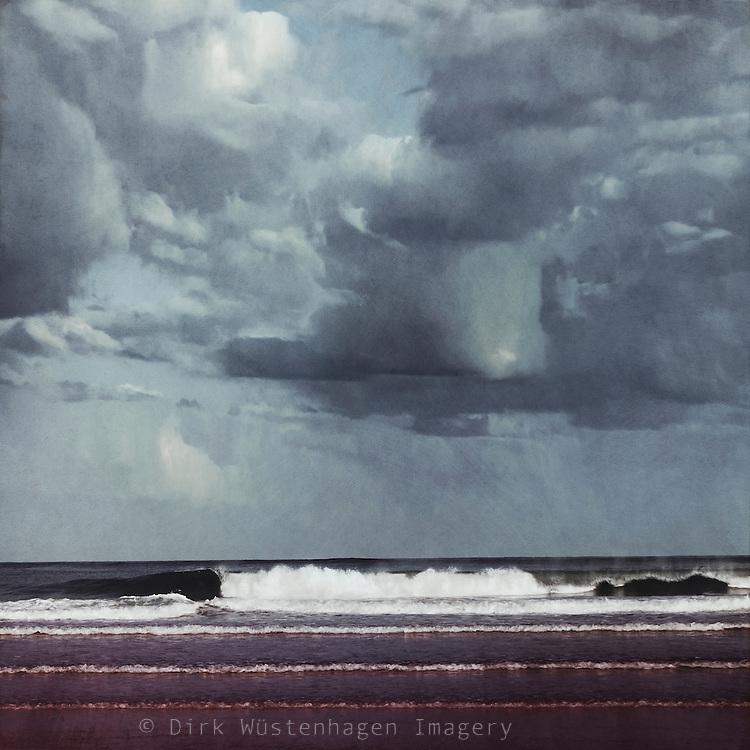 Atlantic Ocean near Bordeaux, France - textured photograph