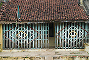 Detail of old house in Cuddalore Port. East Coast of South India.