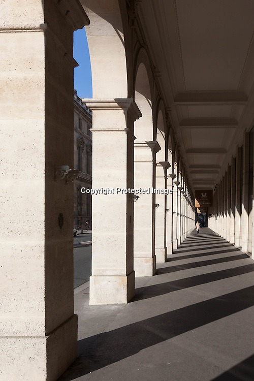 France. Paris. 1st district. , the arches of the rue de Rivoli / sous les arcades de la rue de Rivoli