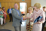 Bernard Kirk, GEC with Patricia Burke Brogan and  Sabina Higgins, wife of President Michael D Higgins,  at the launch of Patricia's book Memoir with Grykes and Turloughs at the Galway Education Centre. Photo:Andrew Downes