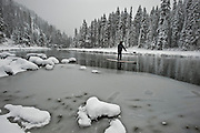 """Winter SUP on the Truckee River 4"" - Peter Spain Stand Up Paddleboarding on the Truckee River"