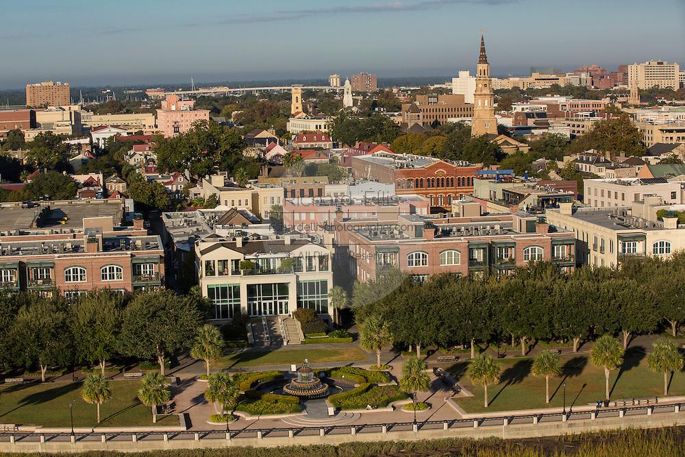 Aerial view of Charleston, South Carolina.