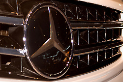 08 February 2007: Mercedes Badge and grille. The Chicago Auto Show is a charity event of the Chicago Automobile Trade Association (CATA) and is held annually at McCormick Place in Chicago Illinois.