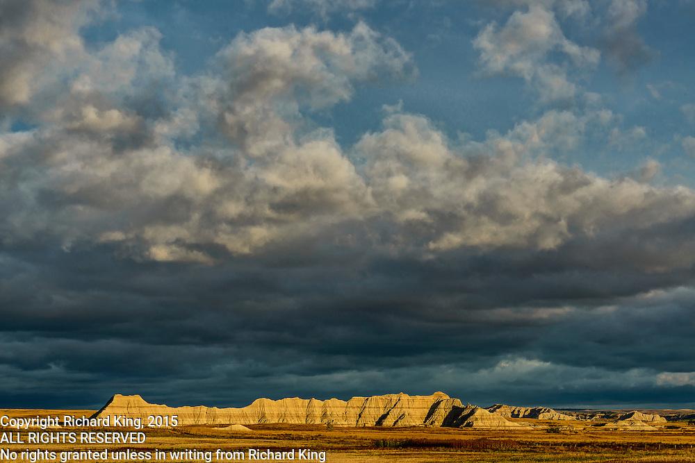 Photographs of the landscapes within Badlands National Park, South Dakota