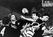 All Blacks Michael Speight (L) goes up for the ball) Rugby union. Date Unknown, Photographer Unknown.