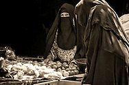 Berber women at the market in Rissani, Morocco.