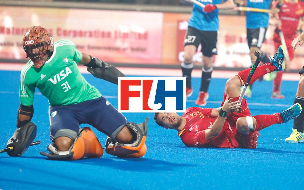 Odisha Men's Hockey World League Final Bhubaneswar 2017<br /> Match id:11<br /> Argentina v Spain<br /> Foto: keeper Agustin Abratte (Arg) <br /> COPYRIGHT WORLDSPORTPICS KOEN SUYK