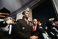 Oliver North at the Senate Iran contra hearings on July 8 1987<br /> <br /> by Dennis Brack