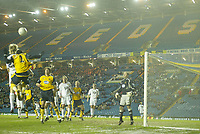 Photo: Aidan Ellis.<br /> Leeds United v Wigan Athletic. The FA Cup. 17/01/2006.<br /> Wigan defend a Leeds free kick at a Half Empty Elland Rd.