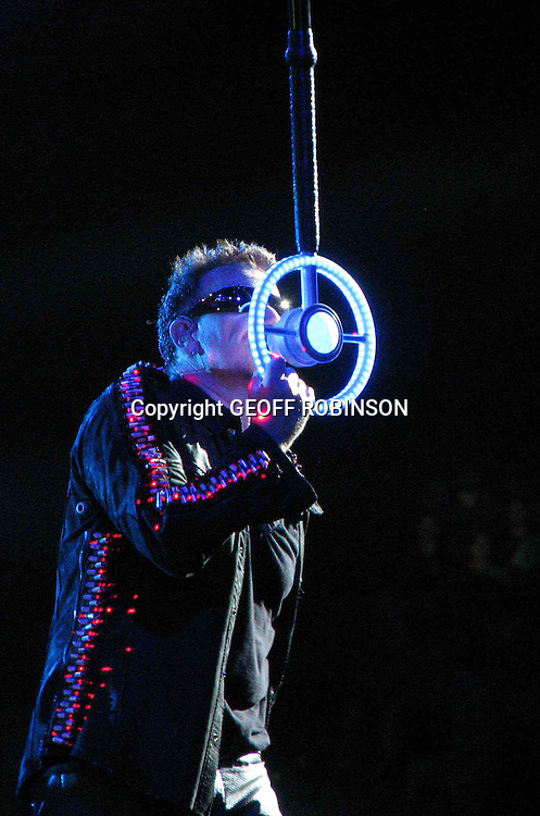PIC BY GEOFF ROBINSON PHOTOGRAPHY 07976 880732...U2 AT HORSENS CASA ARENA DENMARK BONO