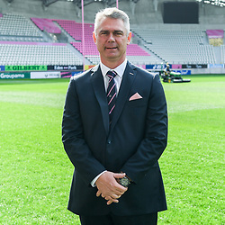 Heyneke Meyer new head coach of Stade Francais during the press conference of Stade Francais Paris rugby at Stade Jean Bouin on April 16, 2018 in Paris, France. (Photo by Anthony Dibon/Icon Sport)