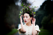 Model Yomiko pictured at the Botanical Gardens for the launch of Showcase Ireland 2015. Picture Andres Poveda