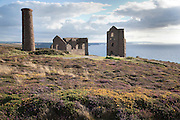 Wheal Coates ruined tin mine on the coast near Chapel Port, Cornwall.