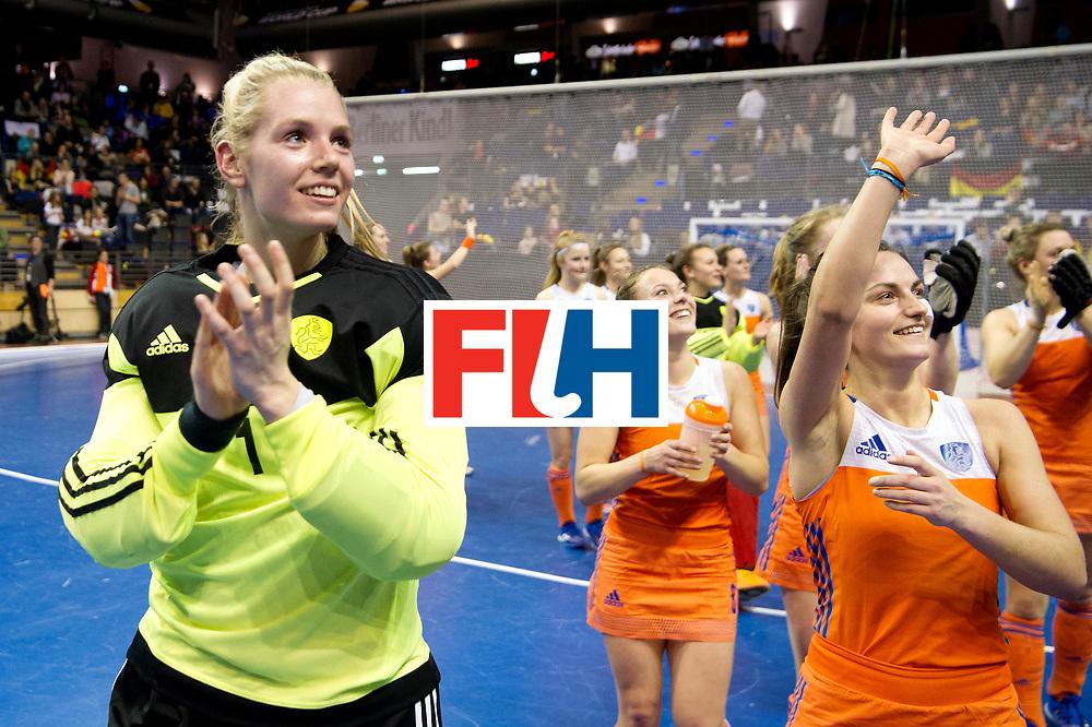 BERLIN - Indoor Hockey World Cup<br /> Quarterfinal 4: Netherlands - Czech Republic<br /> foto: HEERBAART Alexandra (GK).<br /> WORLDSPORTPICS COPYRIGHT FRANK UIJLENBROEK