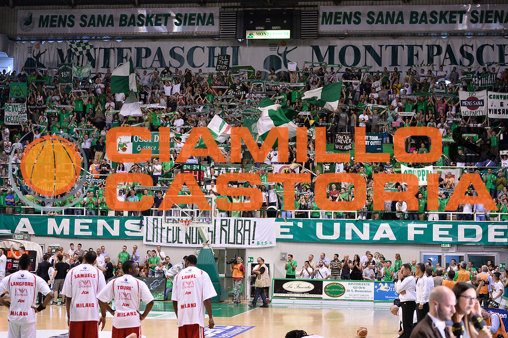 DESCRIZIONE : Campionato 2013/14 Finale GARA 4 Montepaschi Mens Sana Siena - Olimpia EA7 Emporio Armani Milano<br /> GIOCATORE : Brigata Ultras<br /> CATEGORIA : Tifosi Pubblico Ultras<br /> SQUADRA : Montepaschi Siena<br /> EVENTO : LegaBasket Serie A Beko Playoff 2013/2014<br /> GARA : Montepaschi Mens Sana Siena - Olimpia EA7 Emporio Armani Milano<br /> DATA : 21/06/2014<br /> SPORT : Pallacanestro <br /> AUTORE : Agenzia Ciamillo-Castoria / Claudio Atzori<br /> Galleria : LegaBasket Serie A Beko Playoff 2013/2014<br /> Fotonotizia : DESCRIZIONE : Campionato 2013/14 Finale GARA 4 Montepaschi Mens Sana Siena - Olimpia EA7 Emporio Armani Milano<br /> Predefinita :