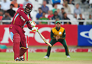 Chris Gayle of the West Indies during the 2015 KFC T20 International game between South Africa and the West Indies at Newlands Cricket Ground, Cape Town on 9 January 2015 ©Ryan Wilkisky/BackpagePix