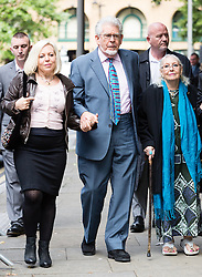 © Licensed to London News Pictures. 02/06/2014. London, UK. Artist and television personality, Rolf Harris arrives at Southwark Crown Court in London on 2nd June 2014. Rolf Harris denies 12 counts of indecent assault against four girls and women between 1968 and 1986. Photo credit : Vickie Flores/LNP