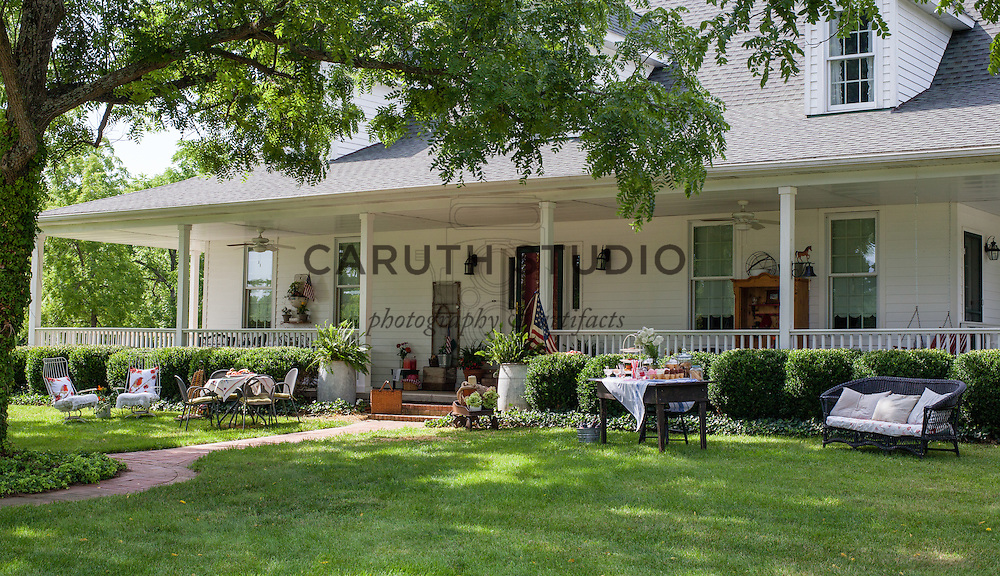 Ice Cream Social: Furnishings on lawn and porch