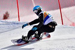 MILLER Zach, SB-LL2, USA, Banked Slalom at the WPSB_2019 Para Snowboard World Cup, La Molina, Spain
