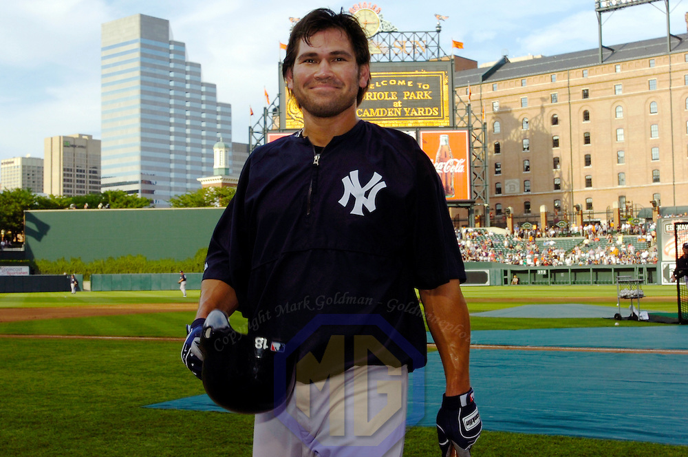 04 August 2006:  The New York Yankees Johnny Damon in action against the Baltimore Orioles.  The Yankees defeated the Orioles 5-4 at Orioles Park at Camden Yards in Baltimore, MD.