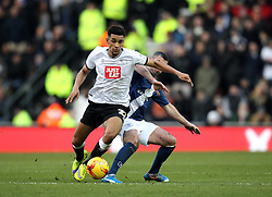 Nick Blackman of Derby County holds off Paul Robinson of Birmingham City - Mandatory byline: Robbie Stephenson/JMP - 16/01/2016 - FOOTBALL - iPro Stadium - Derby, England - Derby County v Birmingham City - Sky Bet Championship