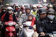 Traffic in Hanoi, Vietnam on Jan 11, 2013..(Photo by Kuni Takahashi)