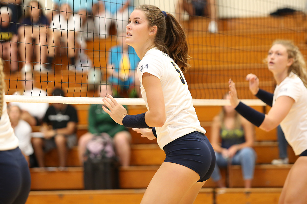 August 26, 2016 - Johnson City, Tennessee - Brooks Gym: ETSU middle blocker Kaela Massey (5)<br /> <br /> Image Credit: Dakota Hamilton/ETSU