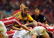 2006, Powergen Cup, Twickenham, Subsitute referee and Matt Dawson,  London Wasps vs Llanelli Scarlets, ENGLAND, 09.04.2006, 2006, , © Peter Spurrier/Intersport-images.com.   [Mandatory Credit, Peter Spurier/ Intersport Images].