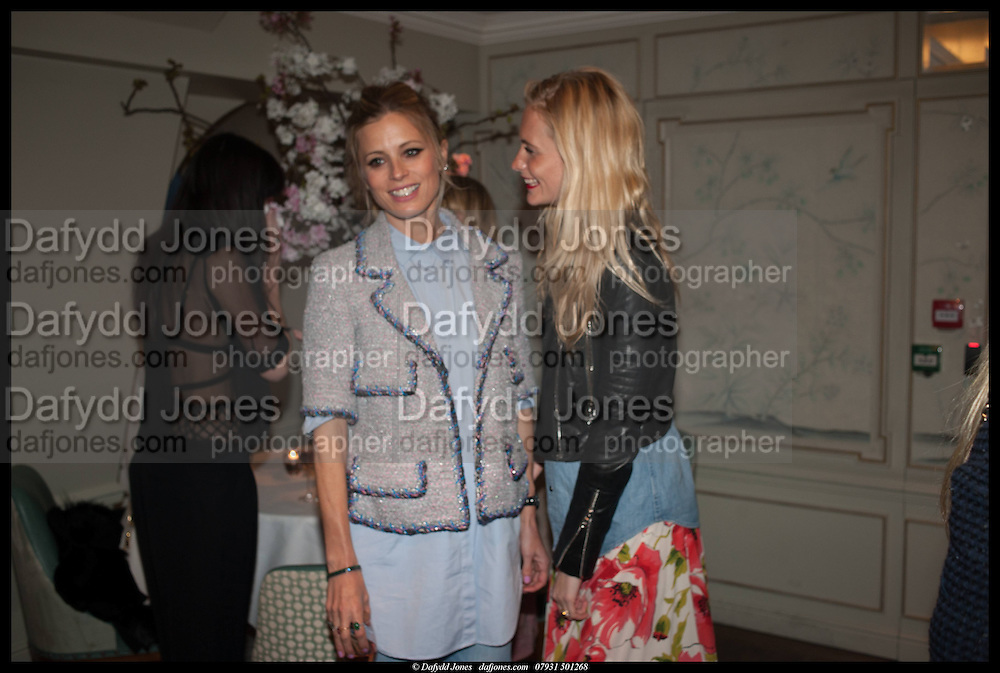 LAURA BAILEY; POPPY DELEVIGNE; , Alice in her Palace party, Alice Naylor-Leyland launch of her  blog, Alice in her Palace, Drawing Room at Fortnum & Mason. 27 March 2014
