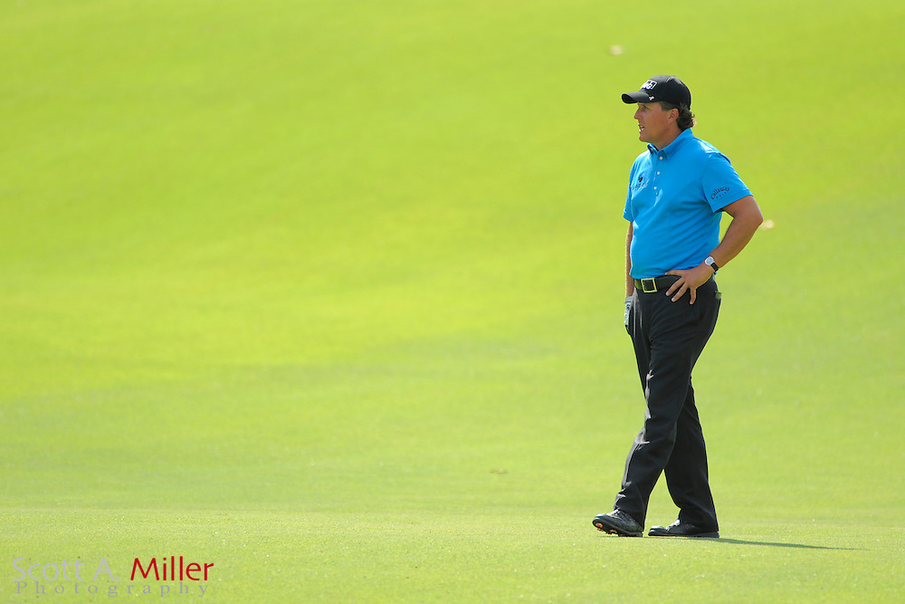 Phil Mickelson (USA) on the ninth hole fairway during the final round of the PGA Tour Championship the final event of the 2009 FedEx Cup at East Lake Golf Club on Sept. 27, 2009 in Decatur, Ga.     ..©2009 Scott A. Miller
