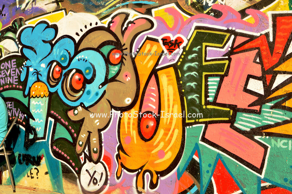 Graffiti Photographed in Tel Aviv, Israel
