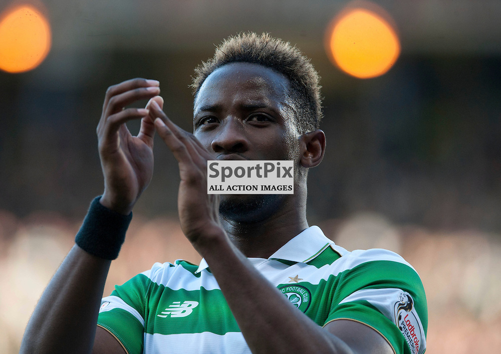 Moussa Dembele  celebrates at full time in the match between Rangers v Celtic, Betfred Cup semi-final, Hampden Park, Sunday 23 October 2016, (c) Angie Isac | SportPix.org.uk