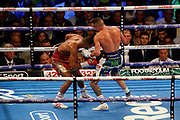 Kid Galahad and Josh Warrington during the IBF World Featherweight Championship between Josh Warrington and Kid Galahad at First Direct Arena, Leeds, United Kingdom on 15 June 2019.