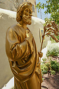 Israel, Nazareth, Statue of St. Joseph in the grounds of the Casa Nova pilgrims hostel