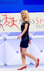 Miss Sports of Slovenia, on April 18, 2009, in Festivalna dvorana, Ljubljana, Slovenia. (Photo by Ales Oblak / Sportida)
