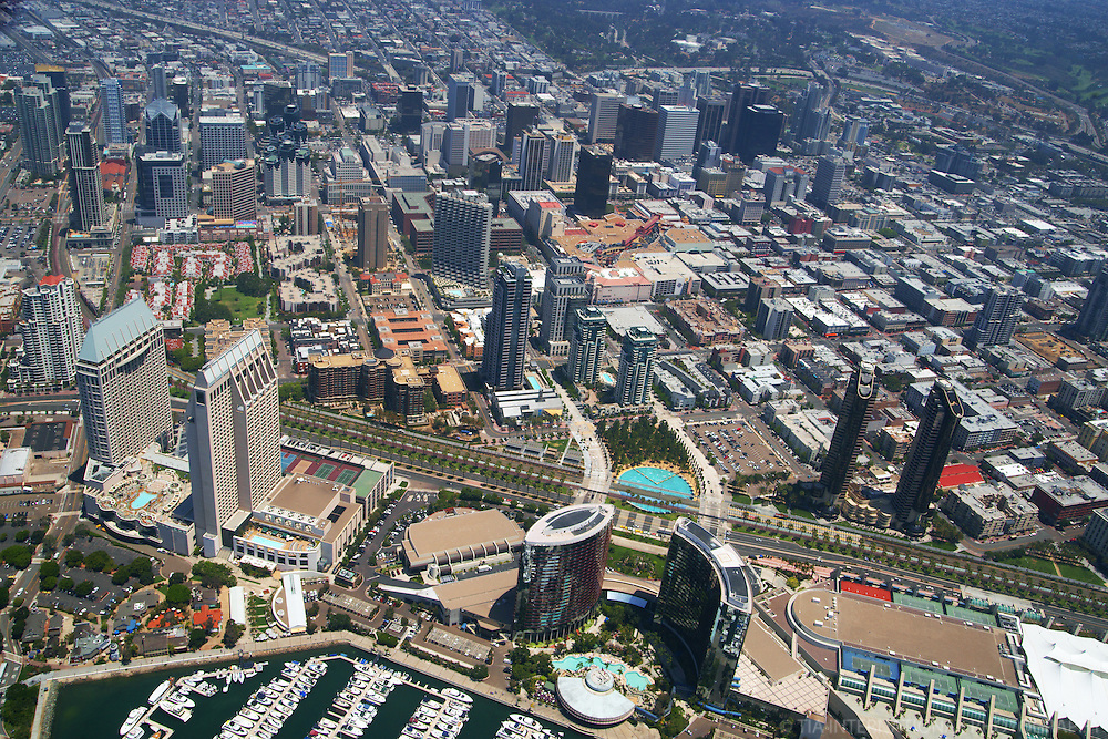 Aerial View, Downtown San Diego