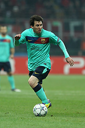 23.11.2011, Giuseppe Meazza Stadion, Mailand, ITA, UEFA CL, Gruppe H, AC Mailand (ITA) vs FC Barcelona (ESP), im Bild Lionel Messi Barcellona // during the football match of UEFA Champions league, group H, between Gruppe H, AC Mailand (ITA) and FC Barcelona (ESP) at Giuseppe Meazza Stadium, Milan, Italy on 2011/11/23. EXPA Pictures © 2011, PhotoCredit: EXPA/ Insidefoto/ Paolo Nucci..***** ATTENTION - for AUT, SLO, CRO, SRB, SUI and SWE only *****
