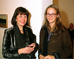 Left to right, the COUNTESS OF EUSTON and her daughter LADY EMILY FITZROY, at an exhibition in London on 16th December 1999.MZY 8