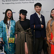 London, England, UK. 15th September 2017. Eudon Choi Showcases his latest collection at the London Fashion Week SS18 at 180 The Strand.