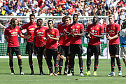 Manchester United players during penalty shoot out during the AON Tour 2017 match between Real Madrid and Manchester United at the Levi's Stadium, Santa Clara, USA on 23 July 2017.