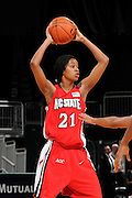 January 22, 2009: Brittany Strachan of the North Carolina State Wolfpack in action during the NCAA basketball game between the Miami Hurricanes and the North Carolina State Wolfpack. The 'Canes defeated the Wolfpack 72-60.