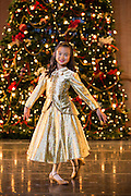 Bay Pointe Ballet students pose for a portrait during the Nutcracker Photo Day at the San Mateo Performing Arts Center in San Mateo, California, on December 10, 2015. (Stan Olszewski/SOSKIphoto)