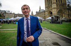 © Licensed to London News Pictures. 08/03/2017. London, UK. Liberal Democrat leader TIM FARRON speaking to media outside The House of Parliament in London, on the day that  British chancellor Philip Hammond delivers his 2017 Budget to Parliament. Photo credit: Ben Cawthra/LNP